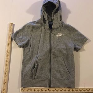 Nike Boys Zip Up Short Sleeve Hoodie Size Medium